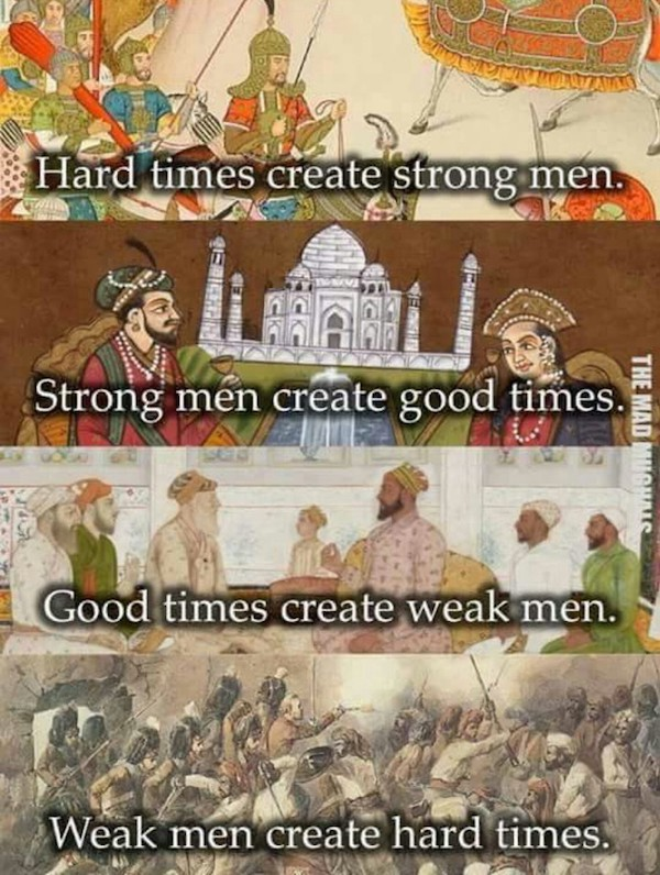 Hard Times Create Strong Man